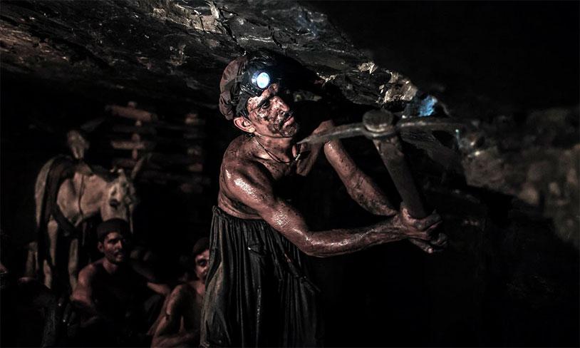 Coal Miner's Balls Painted White