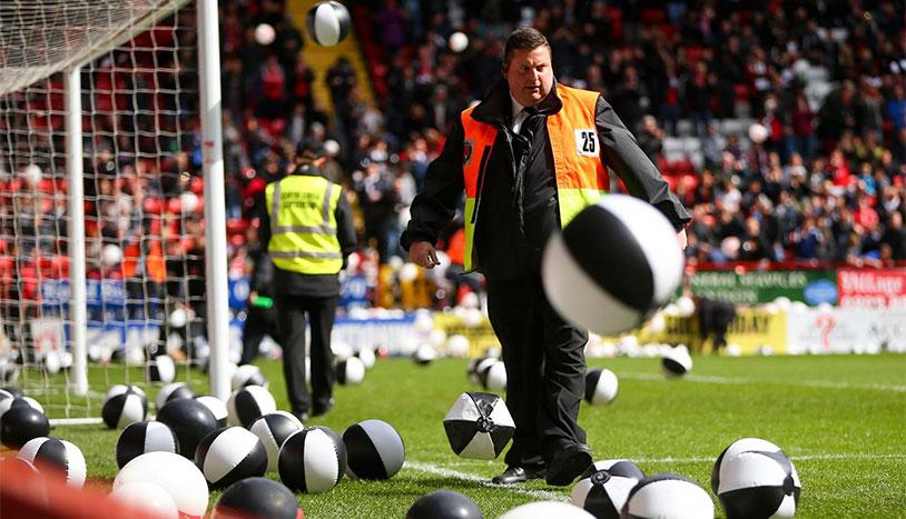 Soccer Match Ball Riot