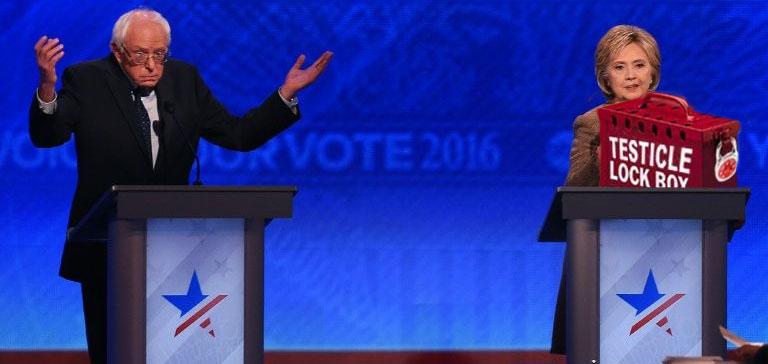 Hillary Clinton Testicle Lock Box
