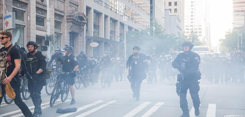 Seattle Police Blast Balls