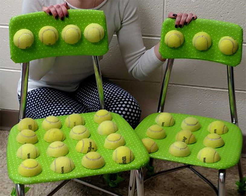 Autistic Tennis Ball Chairs