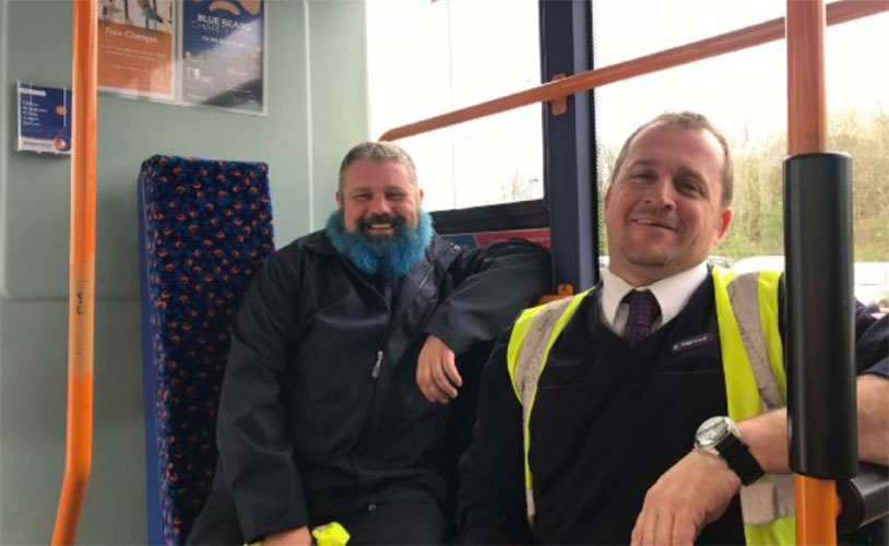 Blue-Bearded Bus Driver Walking Coast To Coast For Cancer