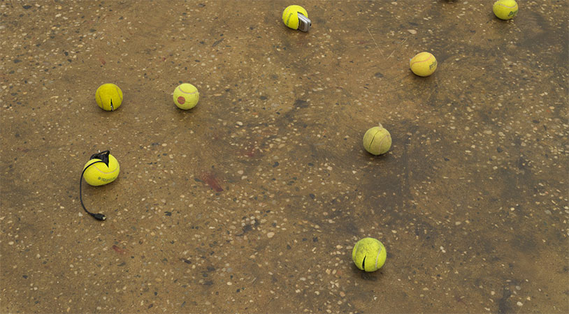 This Tennis Ball Sculpture Makes A Powerful Point