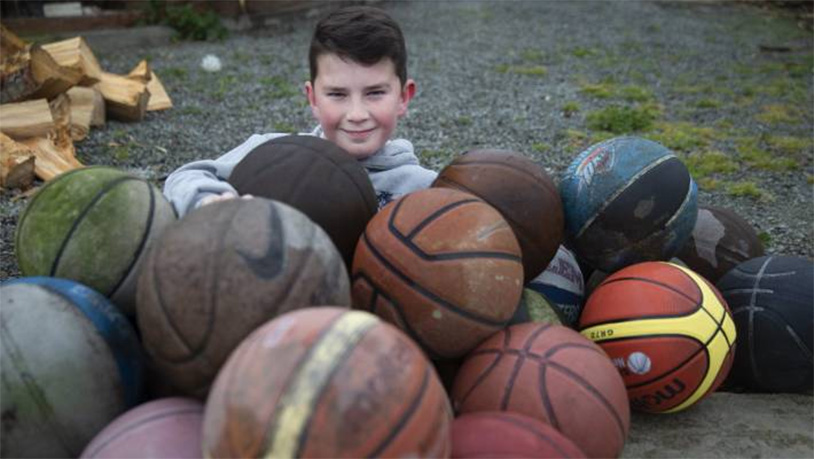 Kid Finds 58 Lost Basketballs In One Day