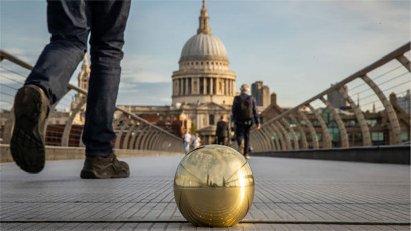 Golden Balls In London Could Win You Free Pizza