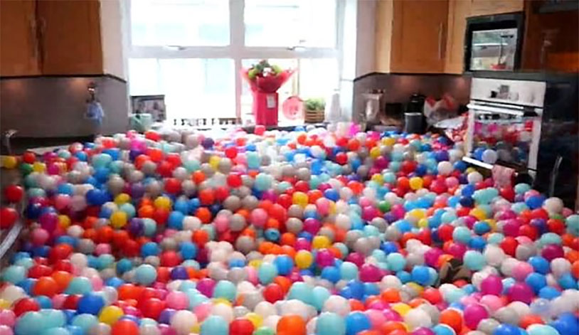 Man Turns House Into Quarter Million Ball Pit