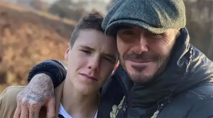 David Beckham Gets A Testicle Trimmer From His Son