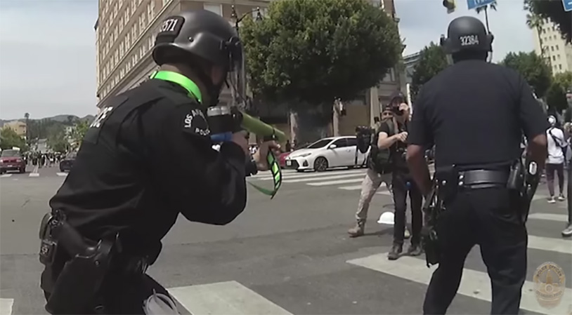 New Video Shows LAPD Shooting Protester In Groin At Close Range